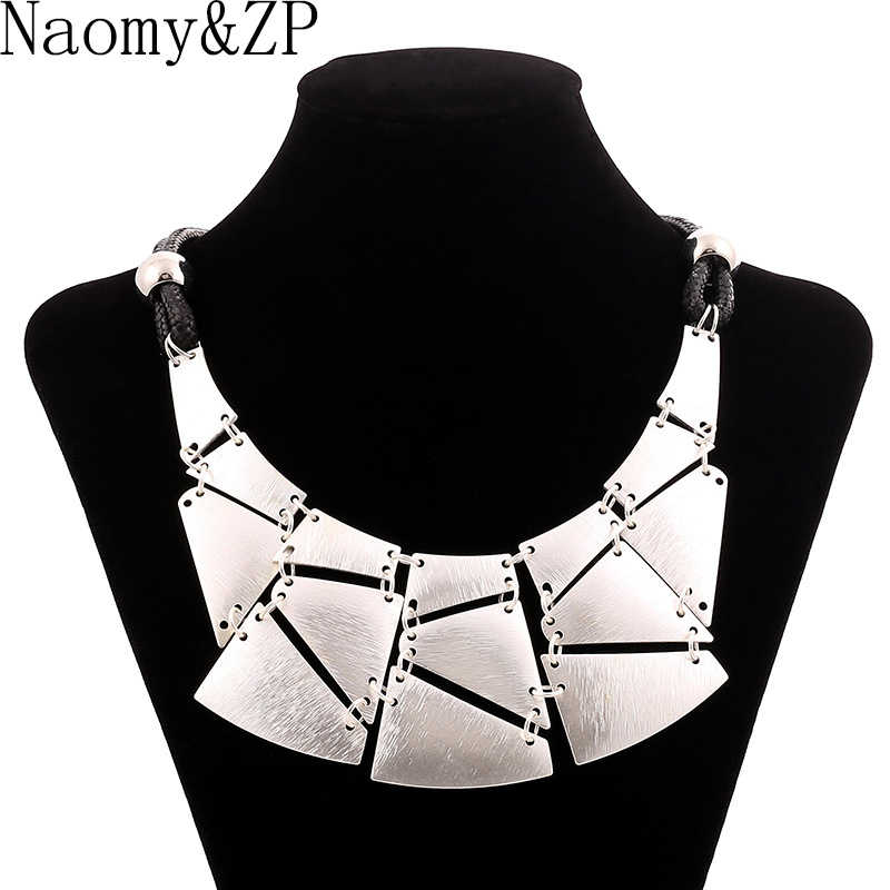 Naomy&ZP Statement Necklace Women Maxi Big Vintage Necklaces Large Boho Bohemian Necklace Fashion Accessories Jewelry Choker