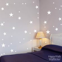 Stars Wall Stickers Baby Nursery Decals Kids Room DIY Easy Sticker Children Decors 522P