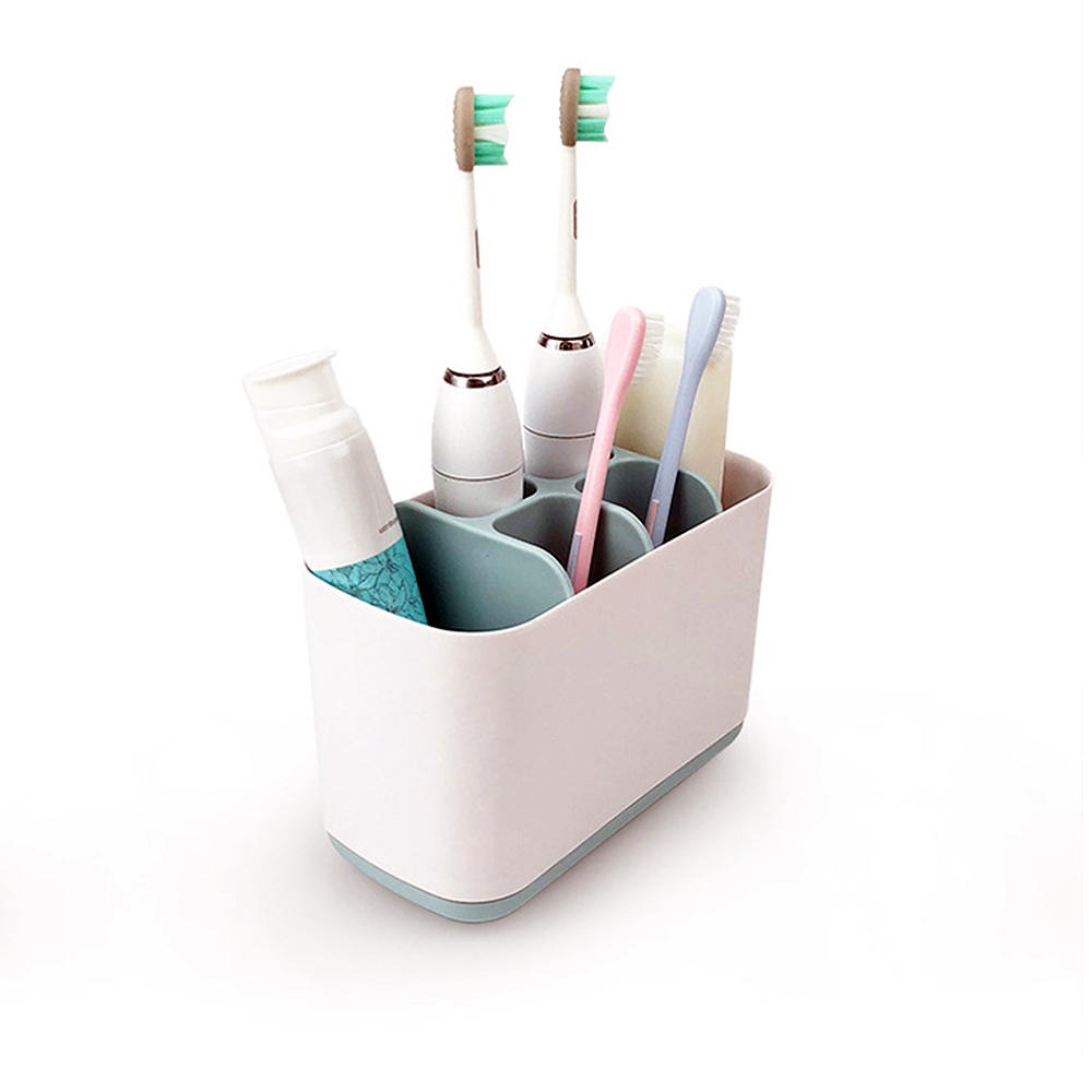 Toothbrush Toothpaste Holder Bathroom Dispenser Tooth brush Holder Suction Hooks Cups Organizer bathroom products accessories anya creative fashion tooth style toothbrush holder white