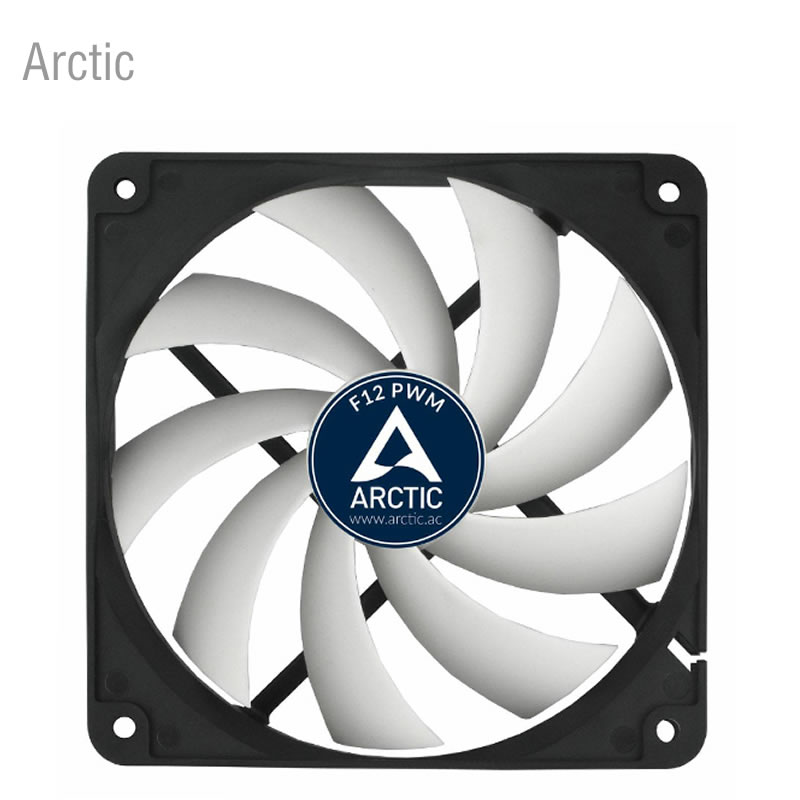 Arctic F12 PWM 4pin 12cm Cooler cooling fan 120mm CPU temperature control Computer Case fan free delivery 4e 115b fan 12038 iron leaf high temperature cooling fan 12cm