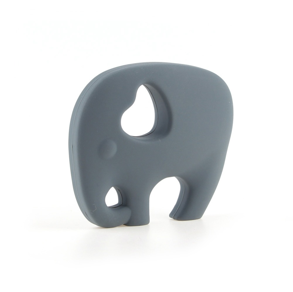 TYRY.HU 1pc Elephant Silicone Teether Baby Teething Necklace Pendant For Teething Kids BPA Free Silicone Freeship