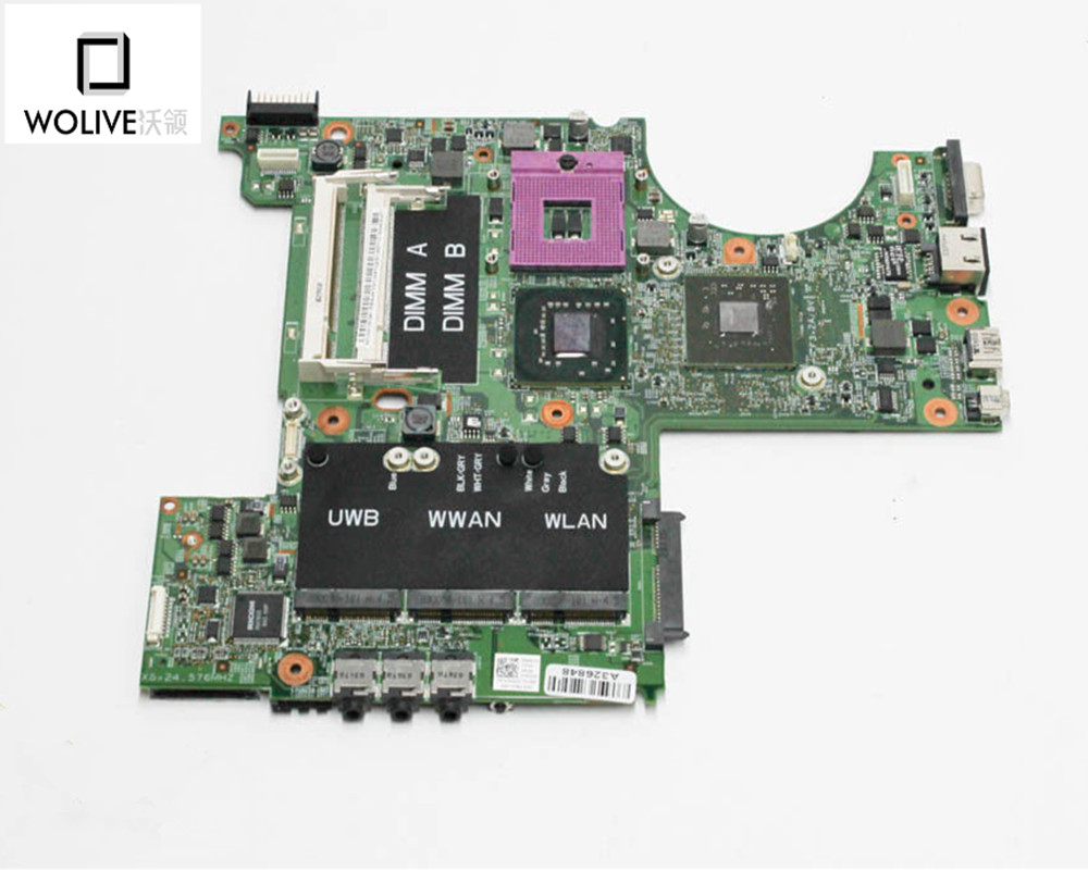 Laptop motherboard Original For Dell XPS M1530 1525 nokotion ru477 cn 0ru477 laptop motherboard for dell xps m1530 geforce 8400m update graphics mainboard