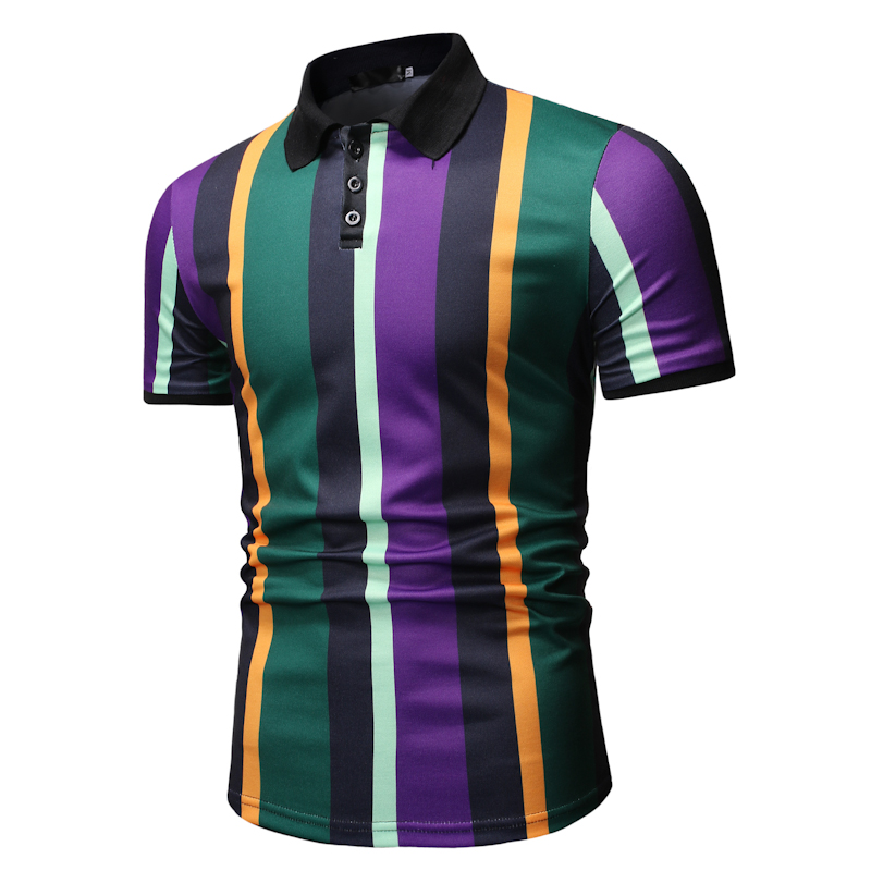 Image 2 - Men T Shirtpullover Slim Fit Clothes New Men's Casual Fashion POLO Shirt for Summer 2019 Polo Shirt Men-in Polo from Men's Clothing
