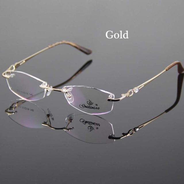2 Color Eyeglasses Frame Women Rimless Glasses Frame Women Spectacles Optical Prescription Eyewear Frames Eyeglass Frames grau