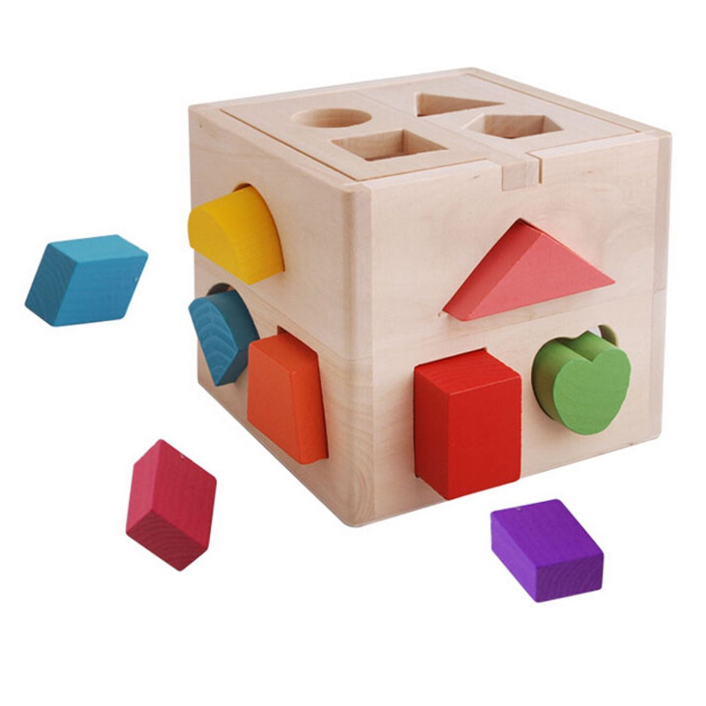 Children 's Early Education Puzzle 13 -Hole Puzzle Shape Matching Building Toys children s crusade