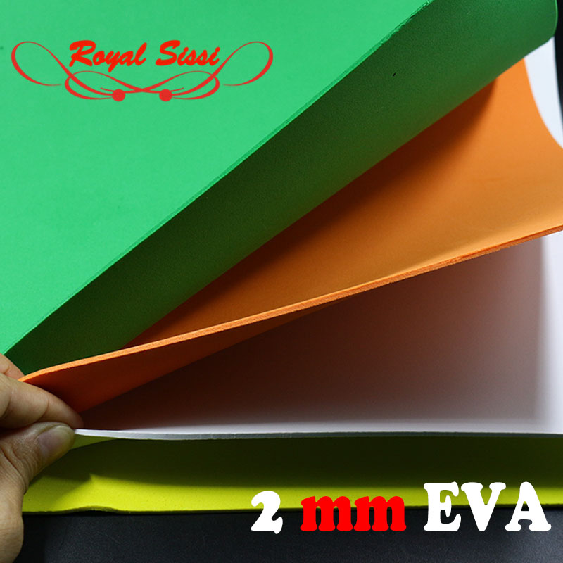 Royal Sissi Hot 2mm Thick Fly Tying EVA Foam Sheet 5sheets/pack Square Foam Paper Floating Bugs Cricket Body Fly Tying Materials