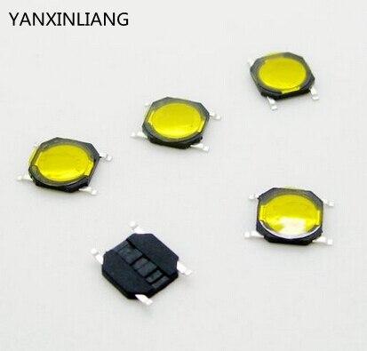 100 ШТ. 4*4*0.8 ММ 4*4*0.8 мм 4X4X0.8 мм SMD такт переключатель с крышкой/водонепроницаемый меди голова