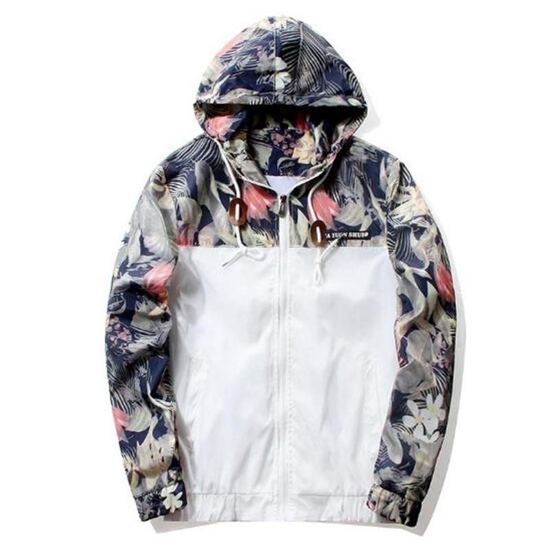 Floral Bomber Jacket Men Hip Hop Slim Fit Flowers Pilot Bomber Jacket Coat Men's Hooded Jackets Plus Size 4XL-in Jackets from Men's Clothing