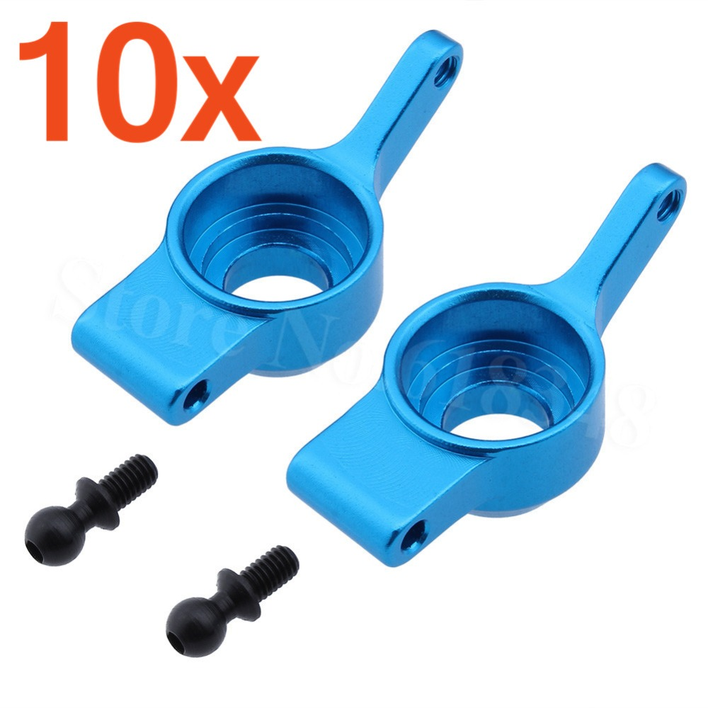 Wholesale 10Pairs/Lot 580024 HSP Upgrade parts Aluminum Rear Hub Blue For WLtoys 1:18 Model RC Car A959-05 A959 A969 A979 2pcs hsp 106017 106617 aluminum steering linkage 06016 front rear servo link 1 10th upgrade parts for r c model car buggy