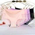 Awaytr Горячие Продаем Мода Sexy Марка MS Underpant женские Бесшовные Трусы Девушки Шорты Кружева Ice Шелковый Женский Underwear Оптовая