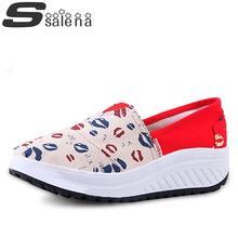 Frauen Müßiggänger Frauen Flache Schuhe Mode Low Top Weibliche Einzelne Schuhe Flache Plattform Fitness Schuhe # B1854