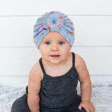 Модная Шапка-бини унисекс для новорожденных девочек и мальчиков с принтом в виде узелка, шапка для новорожденных modis, реквизит для фотосессии, casquette enfant