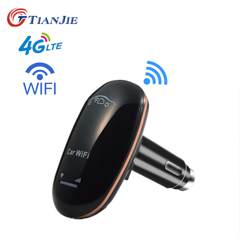 TIANJIE CF901 Unlocked 4G LTE Car Wifi Router CarFi Modem Router SIM Card Wifi Hotspot with