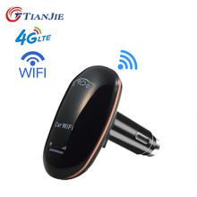 TIANJIE CF901 odblokowany 4G LTE Wifi w samochodzie Router CarFi Router modemu karta SIM Hotspot Wifi z 5V 1A zapalniczka USB ładowarka tanie tanio CN (pochodzenie) wireless Brak 1 x USB 2 4g 150 mbps TJ-CF901-11 Wi-fi 802 11g 802 11n Firewall Mini wifi