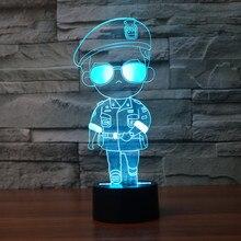QICSYXJ Kreatív ajándéka A Nap Leszármazottai BIG BOSS YOO SI JIN 3d lámpa SONG 7 színek Gradient Led Light Up Toy