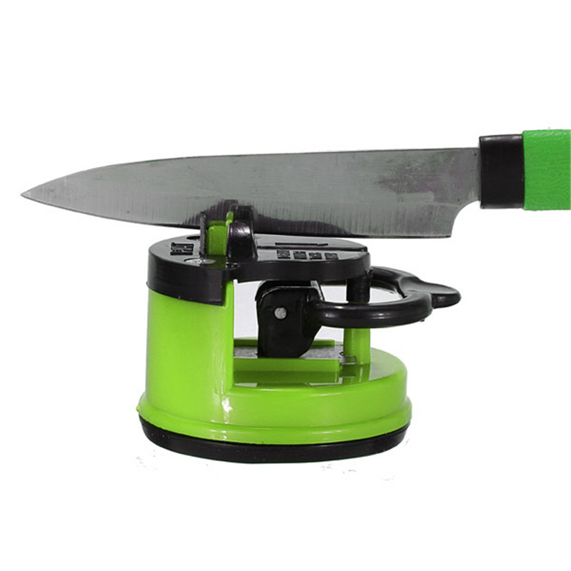 3 Colors steel Knife Sharpener with suction pad Scissors Grinder Secure Suction Chef Pad Kitchen Sharpening Tool Sharpening