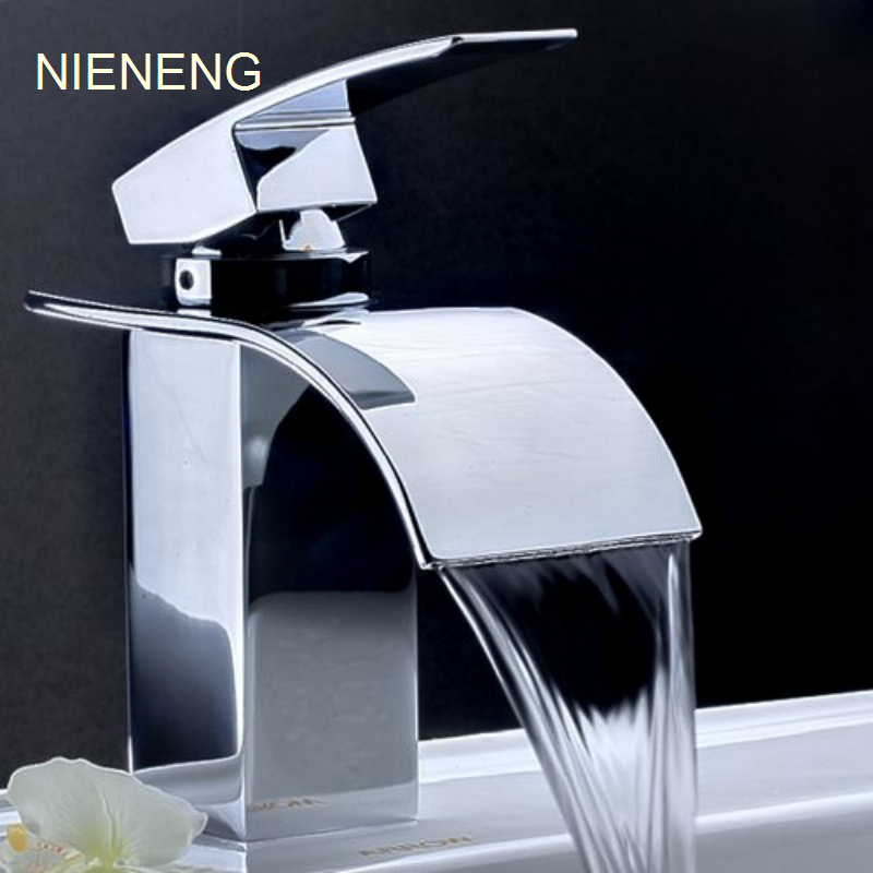 NIENENG Basin Faucets Waterfall Faucet Toilet Pub Club Fixtures Basin Hot Water Tap WC Mixer Bathroom Tap Sink Taps ICD60191 nieneng big discount basin washroom mixer bathroom faucet tap mixers wc sanitary ware water toilet taps polished chrome icd60157
