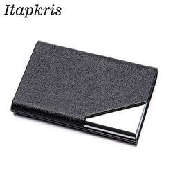 Itapkris Бизнес ID держатель для кредитных карт для женщин и мужчин модный брендовый металлический алюминиевый чехол для карт из искусственной ...