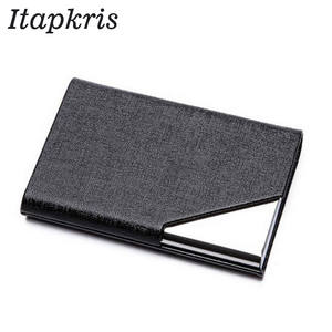 Itapkris Business ID Credit Card Holder Men Metal Card Case