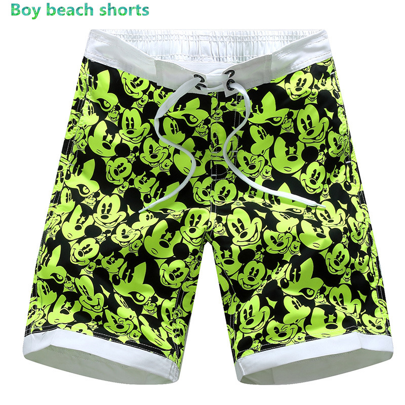 Printed Children Boys   Shorts   Summer Boardshorts Kids Beach Surf Swimwear Kids   Board     Shorts   Sea Waves 1527