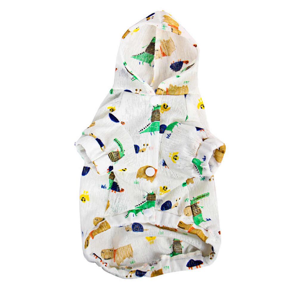 كلب قميص الملابس الحماية من الشمس الصيف رقيقة الملابس مقنعين زي لكل من الكلاب الذكور والإناث