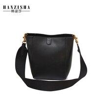 2019 Genuine Leather Women Handbag Famous Brand Female Shoulder Bag High Quality Design Women Messenger Bucket Bag Casual Tote