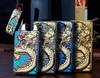 2016 nouveau Dragon en relief Double Arc allume-cigare USB charge Arc Pulse métal tabac Cigarette briquets