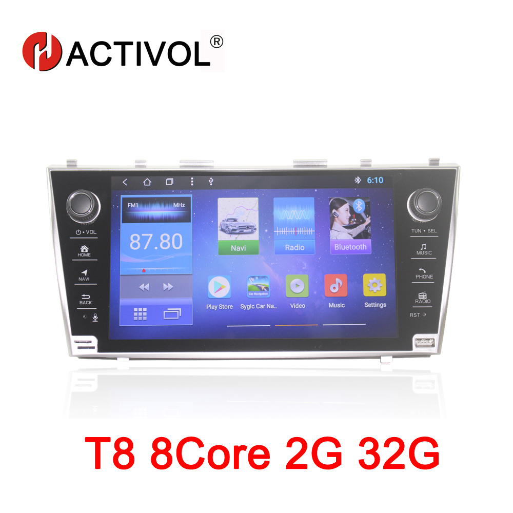 HACTIVOL 8Core Car radio for Toyota Camry 2006 2007 2008 2009 2010 2011 Android 8.1 car dvd player gps navigation 2G RAM 32G ROM цены онлайн