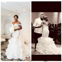Африканские свадебные платья русалки 2020 robe de mariee с бисером