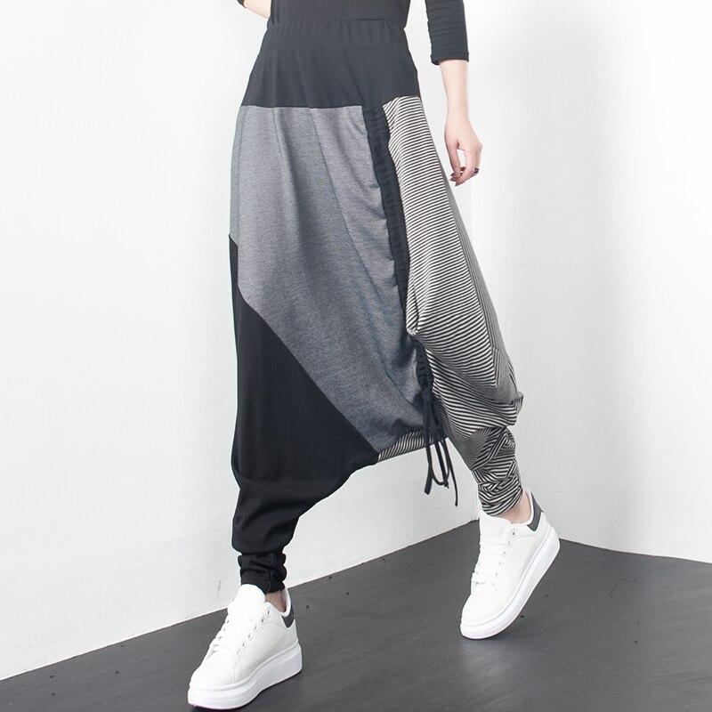 2019 Byxor Personlighet Lösa Harem Byxor Plus Storlek Elastiska - Damkläder