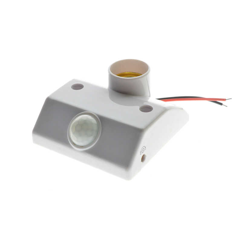 E27 AC 220v 50HZ 5LUX Motion Sensing Switch Infrared Motion Sensor Automatic Light Lamp Holder Switch White Socket