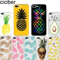 ciciber Summer Fruit Pineapple Watermelon Banana soft silicon phone cases cover For iphone 7 6 S 8 plus 5S SE X XR XS MAX Fundas