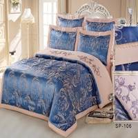 SILK PLACE Silk Satin Cotton Luxurious Bedding Sets 7pcs RU Size Discount Bedding Bedlinen Bedclothes Jacquard