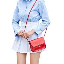 купить 16x6x14c Women Girls Leather Small Handbag Satchel Messenger Cross Body Shoulder Bag Purse по цене 180.41 рублей