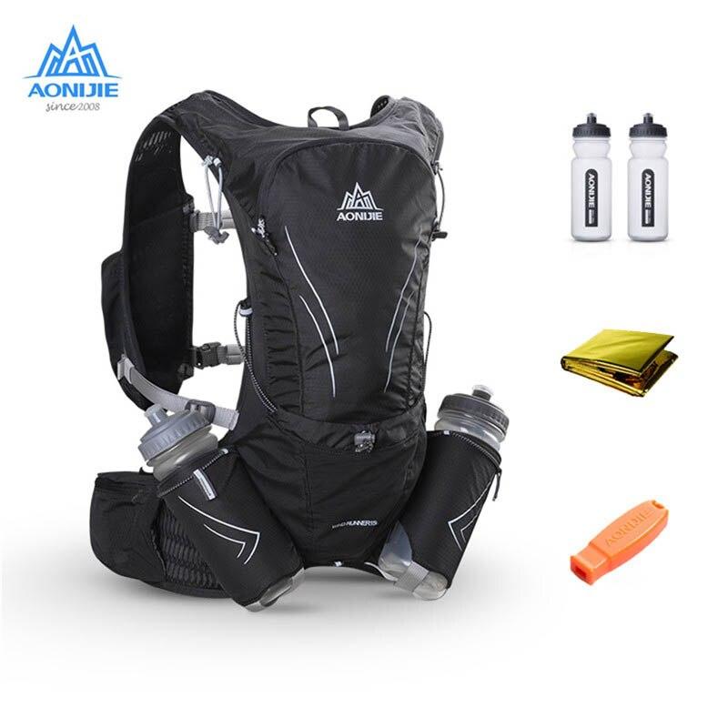 AONIJIE 15L Сумка для бега на открытом воздухе марафон светоотражающий походный велосипедный рюкзак гидратационный жилет пакет с 2*600 мл бутылки