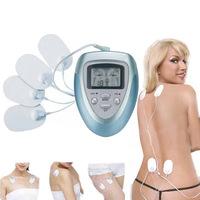 Electric Slimming Massager Pulse Muscle Pain Relief Fat Burn Relaxation Massage 4 Pads Pain Fitness Free