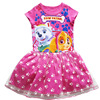 Cartoon Girls Dresses Adorable PAW FECT Doggie Casual Kids Princess Christmas Cheap Baby Summer Toddler Fashion