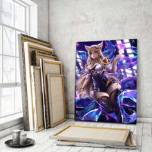 League Of Legends Sexy Ahri Picture Modern Artwork Home Decor Wall Top-Rated Canvas Print Type 1 Piece Style Game Poster 5 piece blue sky nature rocks road landscape picture top rated canvas print type wall decor valley of fire state park poster