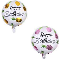18 дюймов тропические фрукты ананас фольга баллоны день рождения украшения Дети baby shower девушка Рождество Воздушный шар активности go