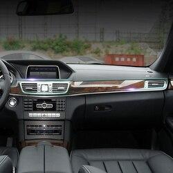 Konsola główna samochodu przekładnia sterująca do paneli wewnętrznych tapicerka przylepna folia ochronna do Mercedes Benz E klasa W212 2014 2016 akcesoria w Naklejki samochodowe od Samochody i motocykle na