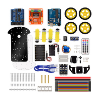 KuongShun 4WD Bluetooth Multi Functional DIY Smart Car Kit User Manual PDF Video Screwdriver For Arduino