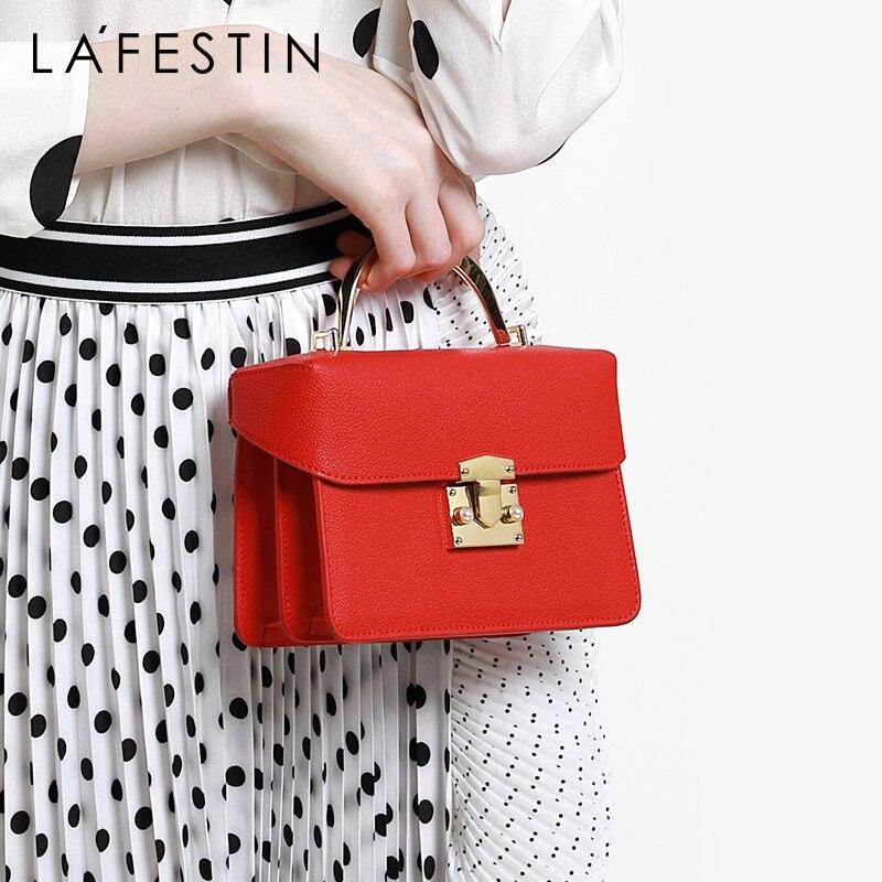 LA FESTIN fashion portable small bag wild leather woman s bag new 2019 shoulder small square