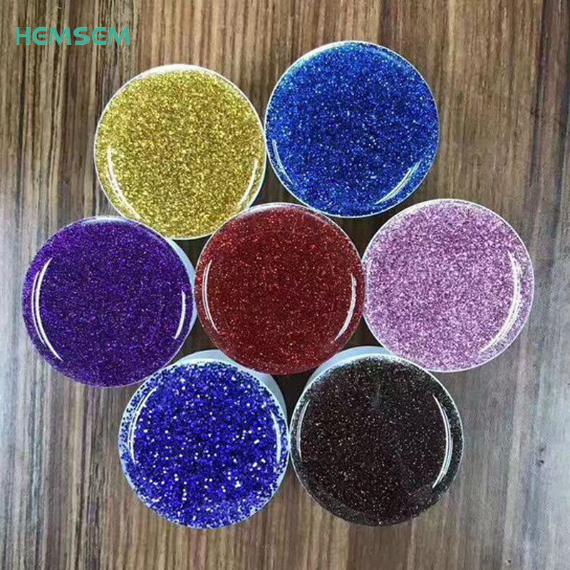 50pcs Glitter Telescopic Epoxy Phone Pop Finger Holder For iPhone Samsung Xiaomi Mobile phone Stand Holder