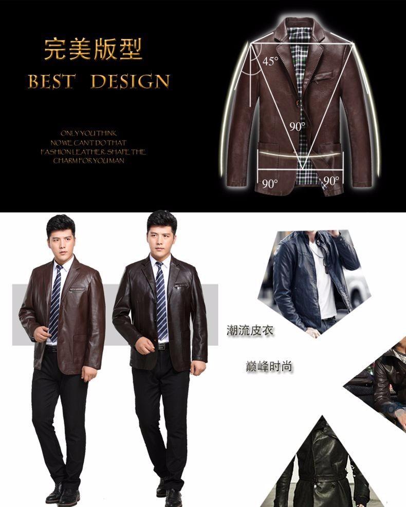 Spring Autumn Man Faux Sheep Leather Jackets Black Brown PU Leather Coats Men Elegance Slim Fit Fur Jacket Tailored Veste Cuir Homme (4)
