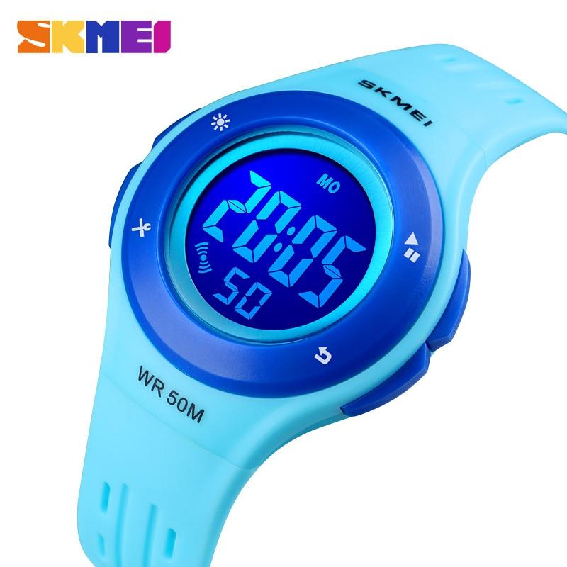 Kids Watches LED Sport Style Children's Digital Electronic Watch Boy Girl Fashion Children Cartoon 50M Waterproof Watch SKMEI