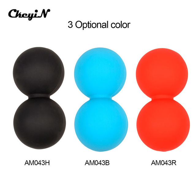 Silicone Elastic Peanut Yoga Massage Massager Ball Rollers Back Trigger Point Therapy Sports Gym Release Excise Mobility Tools
