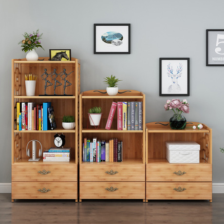 Living Room Furniture Special Section Bookcases Living Room Furniture Home Furniture Bamboo Bookshelf Storage Rack 42*29*70/100/130 Cm Cabinet Book Stand Minimalist We Have Won Praise From Customers