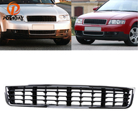 POSSBAY Car Front Lower Bumper Center Grille Grill Cover for Audi A4 B6 Sedan/Avant 2001 2002 2003 2004 2005 Black Grilles