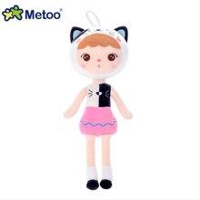 wholesale new 45CM Cartoon Unicorn Stuffed Animals Metoo Angela Plush Toys Cat Dolls for Birthday Ch