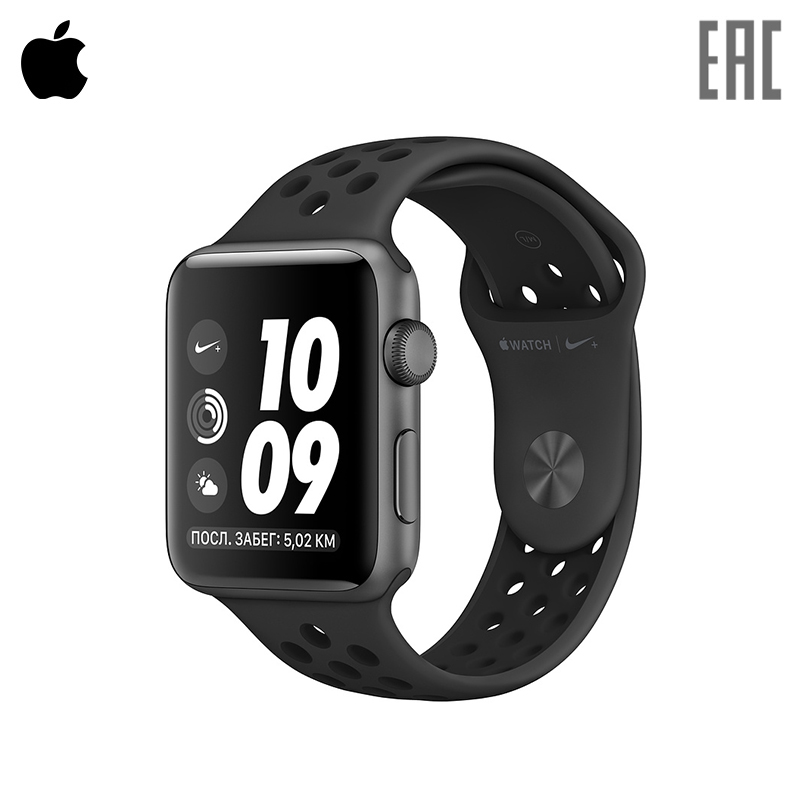 Smart watch Apple Watch Nike+ 42 mm Aluminium + Sport Band cjiaba genuine leather band male hollow out automatic mechanical watch